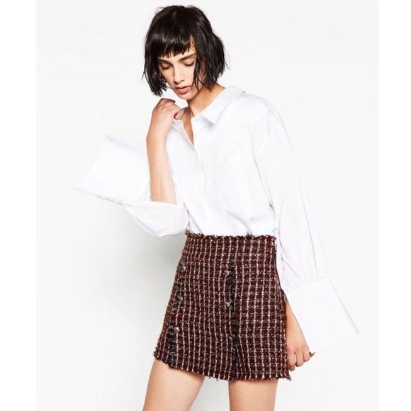 554472d7 Zara tweed skirt. M_5c116ec91e2d2d4c999a5169